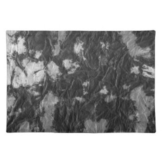 white and black wrinkled paper towel image placemat