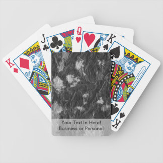 white and black wrinkled paper towel image deck of cards