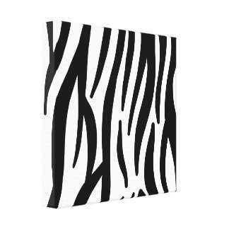 White and Black Zebra Pattern Stretched Canvas Print