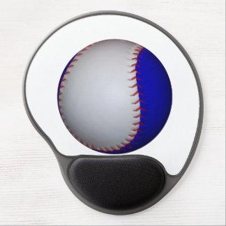 White and Blue Baseball Softball Gel Mouse Pad