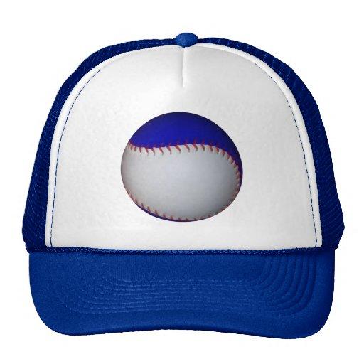 White and Blue Baseball / Softball Hat