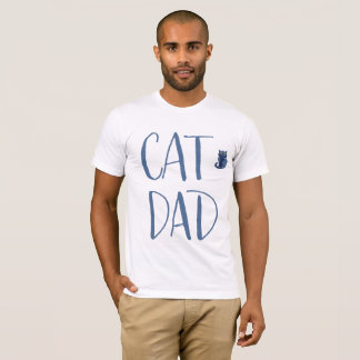 White And Blue Cat Dad Shirt