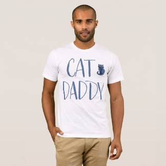 White And Blue Cat Daddy Shirt