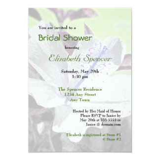 White and Blue Hibiscus Bridal Shower Invitation