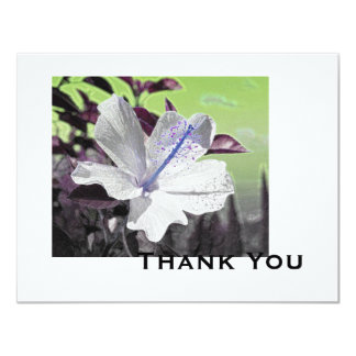 White and Blue Hibiscus Thank You Card Custom Announcement