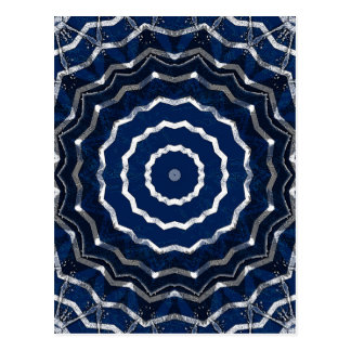White and blue kaleidoscope greeting card