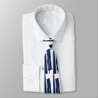 White and Blue Pa II Devour Tie
