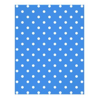 White and Blue Polka Dot Pattern. 21.5 Cm X 28 Cm Flyer