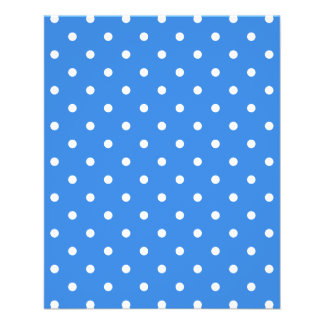 White and Blue Polka Dot Pattern. 11.5 Cm X 14 Cm Flyer