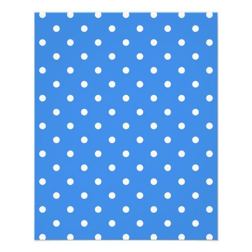 White and Blue Polka Dot Pattern. Custom Flyer