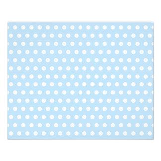 White and Blue Polka Dot Pattern. Spotty. 11.5 Cm X 14 Cm Flyer