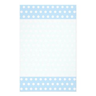 White and Blue Polka Dot Pattern. Spotty. 14 Cm X 21.5 Cm Flyer
