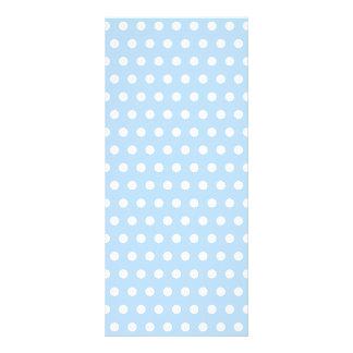 White and Blue Polka Dot Pattern. Spotty. Custom Rack Cards