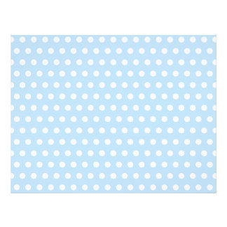 White and Blue Polka Dot Pattern. Spotty. Full Color Flyer