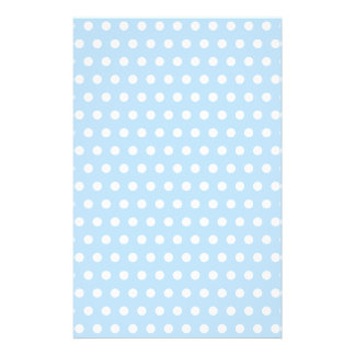 White and Blue Polka Dot Pattern. Spotty. Personalized Flyer