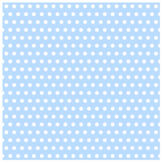 White and Blue Polka Dot Pattern. Spotty. Standing Photo Sculpture