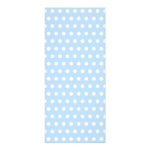 White and Blue Polka Dot Pattern. Spotty. Rack Cards