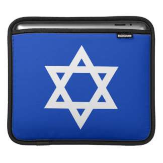 White and Blue Star of David Sleeve For iPads
