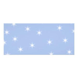 White and Blue Stars Design. Rack Card Design