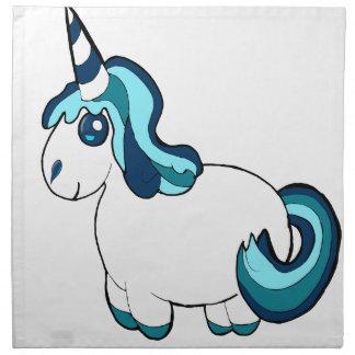 White and blue unicorn ,cute  fantasy creature napkin