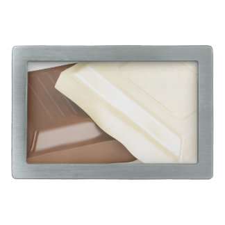 White and brown chocolate belt buckle