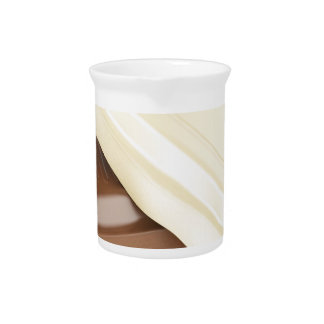White and brown chocolate pitcher