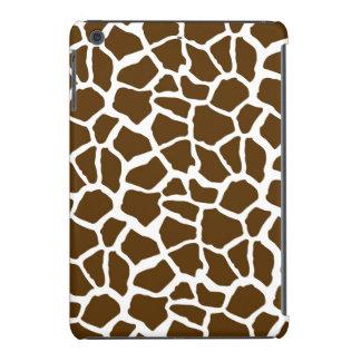 White and Brown Giraffe Animal Print iPad Mini Case