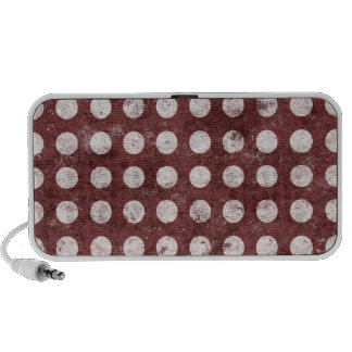 White and brown grunge polka dot pattern speakers