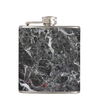White And Dark Gray Marble Stone Hip Flask