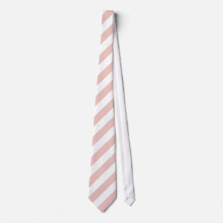 White and Dusty Rose Diagonal Stripes Tie