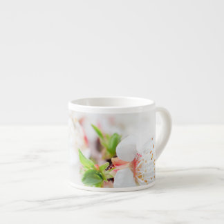White and Flower Espresso Cup