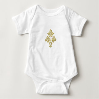 WHITE AND GOLD BABY BODYSUIT