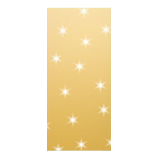 White and Gold Color Star Pattern Custom Rack Card
