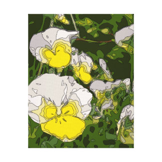 White and Gold Daffodil Flowers Canvas Prints