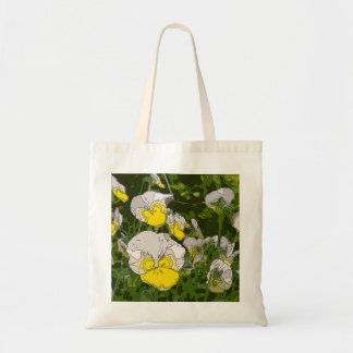 White and Gold Daffodil Flowers Tote Bags