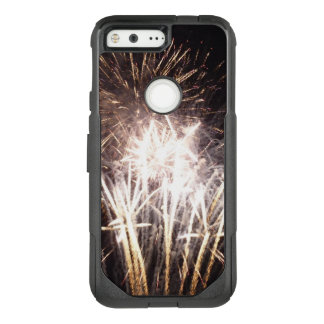 White and Gold Fireworks I Patriotic Celebration OtterBox Commuter Google Pixel Case