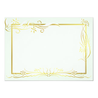 White and gold floral ornament card