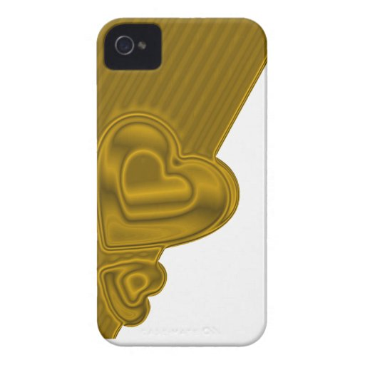 White and gold Hearts BlackBerry Bold Case-Mate