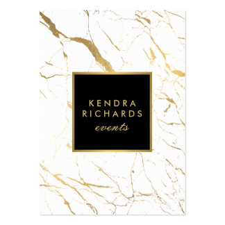 White and Gold Marble Event Planner Large Pack Of Chubby Business Cards