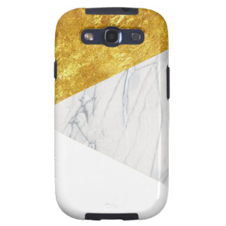 White and Gold Marble Galaxy S3 Case