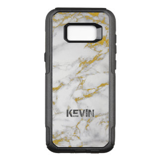 White And Gold Marble Texture OtterBox Commuter Samsung Galaxy S8+ Case