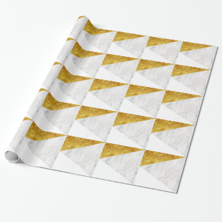 White and Gold Marble Wrapping Paper