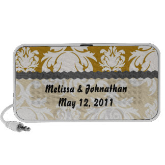 white and gold royale wedding keepsake portable speaker