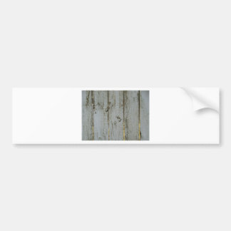 White and Gold Rustic Wood Bumper Sticker