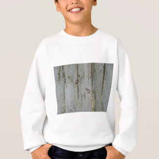 White and Gold Rustic Wood Sweatshirt