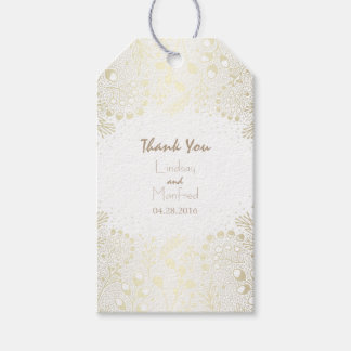 White and Gold Wonderland Garden Wedding Gift Tags