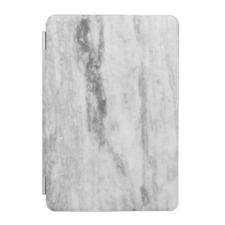 White And Gray Marble Texture Pattern iPad Mini Cover