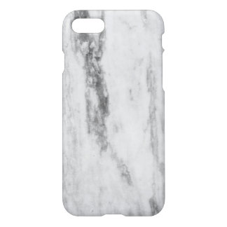 White And Gray Marble Texture Pattern iPhone 7 Case