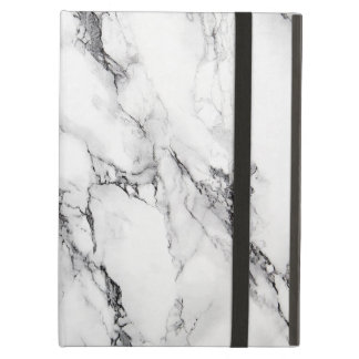 White And Gray Marbled Stone Pattern iPad Air Cover