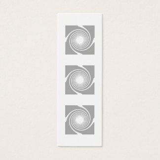 White and gray spiral design. mini business card